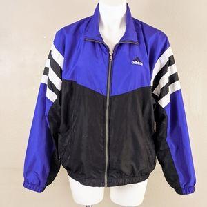 VTG Y2K Adidas Purple Black Colorblock Windbreaker
